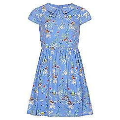 Yumi Girl - blue Bird Tea Dress