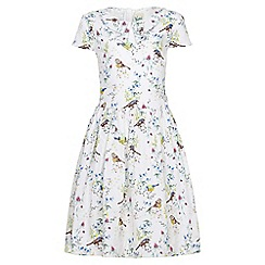 Yumi Girl - white Bird Tea Dress