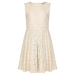 Yumi Girl - ivory Sequin Lace Sleeveless Party Dress
