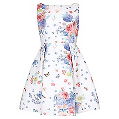 Yumi Girl - multicoloured Floral Butterfly Sleeveless Party Dress