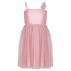 Yumi Girl - pink Sequin Corsage Dress