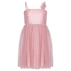 Yumi Girl - pink Sequin Corsage Dress