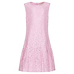 Yumi Girl - pink Drop Waist Embellished Lace Dress