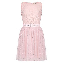 Yumi Girl - Pink Embellished Party Dress