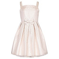 Yumi Girl - Gold Dot Bow Party Dress