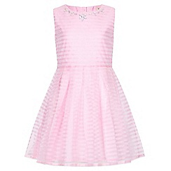 Yumi Girl - pink Embellished Stripes Party Dress