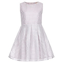 Yumi Girl - grey Embellished Stripes Party Dress