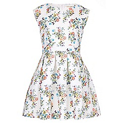 Yumi Girl - multicoloured Floral Butterfly Sleeveless Dress
