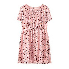Yumi Girl - Pink frill heart pattern dress