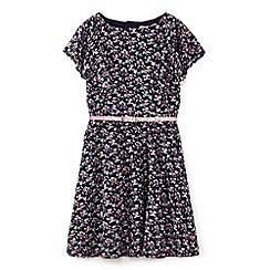Yumi Girl - Navy floral lace dress