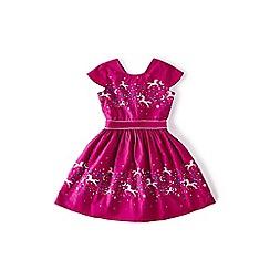 Yumi Girl - Pink embellished collar lace dress