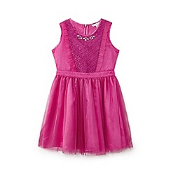 Yumi Girl - Pink embellished lace tu tu dress