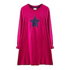 Yumi Girl - Pink embellished star tunic dress