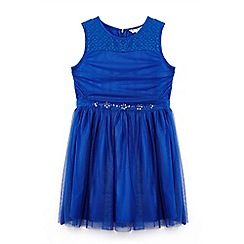 Yumi Girl - Bright blue tu tu dress with embellished waist