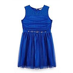 Yumi Girl - Bright blue tu tu dress with embellished waist