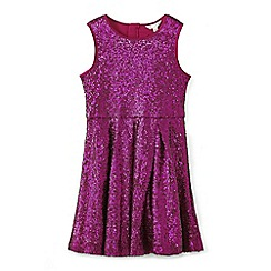 Yumi Girl - Girls' pink sleeveless sequin dress
