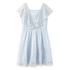 Yumi Girl - Light blue antique lace dress with ruffles