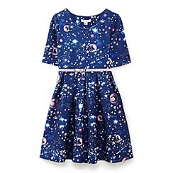 Yumi Girl - Blue galaxy skater dress