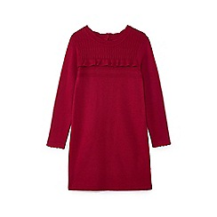 Yumi Girl - Red frilled detail dress