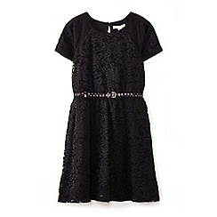Yumi Girl - Black floral lace dress