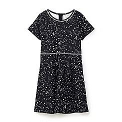 Yumi Girl - Black galaxy stardust skater dress