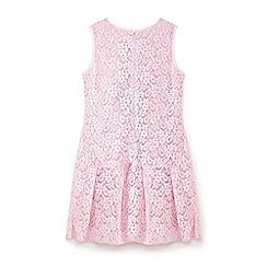 Yumi Girl - Pink jewelled lace dress