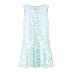 Yumi Girl - Green jewelled lace dress