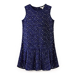 Yumi Girl - Blue jewelled lace dress