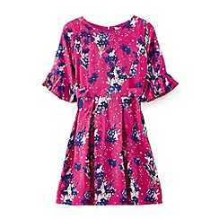 Yumi Girl - Girls' pink flower star garden dress