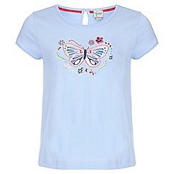 Yumi Girl - blue Butterfly Sequin T-Shirt