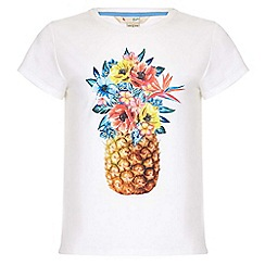 Yumi Girl - white Pineapple Tee