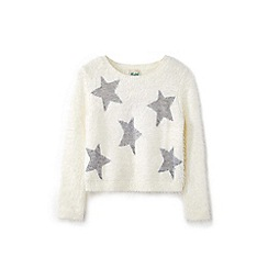 Yumi Girl - White eyelet star bracelet jumper