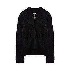 Yumi Girl - Black sparkly knitted cardigan