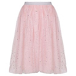 Yumi Girl - Pink Embellished Sparkle Skirt