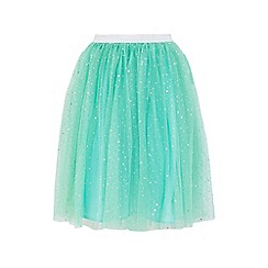 Yumi Girl - Mint embellished sparkle skirt