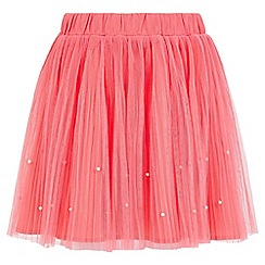 Yumi Girl - orange Embellished Tutu Mini Skirt