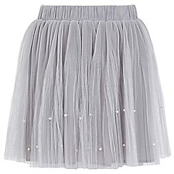 Yumi Girl - grey Embellished Tutu Mini Skirt