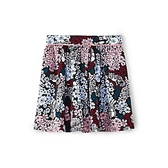 Yumi Girl - Multicoloured woodland skirt with lace trim