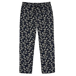 Yumi Girl - Blue Ditsy Floral Print Trousers