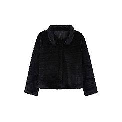 Yumi Girl - Black Faux Fur Jacket