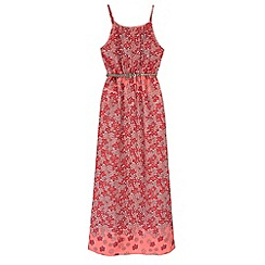 Yumi Girl - Orange Fading Floral Print Maxi Dress