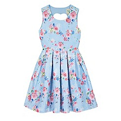 Yumi Girl - Blue Vintage Floral Print Dress