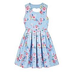 Yumi Girl - Blue Vintage Floral Print Dress