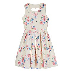 Yumi Girl - Green Vintage Floral Print Dress