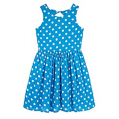 Yumi Girl - Blue Polka Dot Day Dress