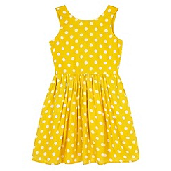 Yumi Girl - Yellow Polka Dot Day Dress