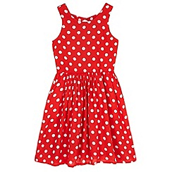 Yumi Girl - Red Polka Dot Day Dress