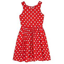 Yumi Girl - Red Polka Dot Day Dress