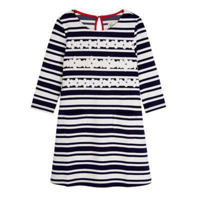 Yumi Girl Blue Stripe Daisy Shift Dress