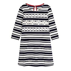 Yumi Girl - Blue Stripe Daisy Shift Dress